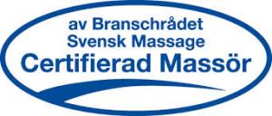 av Branschrådet Svensk Massage Certifierad Massör